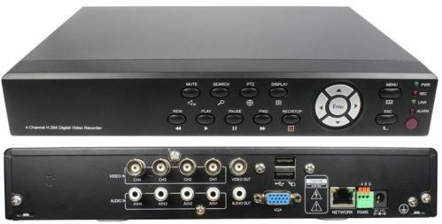 FULL-D1-4CH-H-264-DVR-Recorder-4CH-BNC-4CH-Audio-PTZ-RS-485-Network-RJ